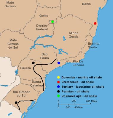 Brazil Tar Sands World - Us oil shale map